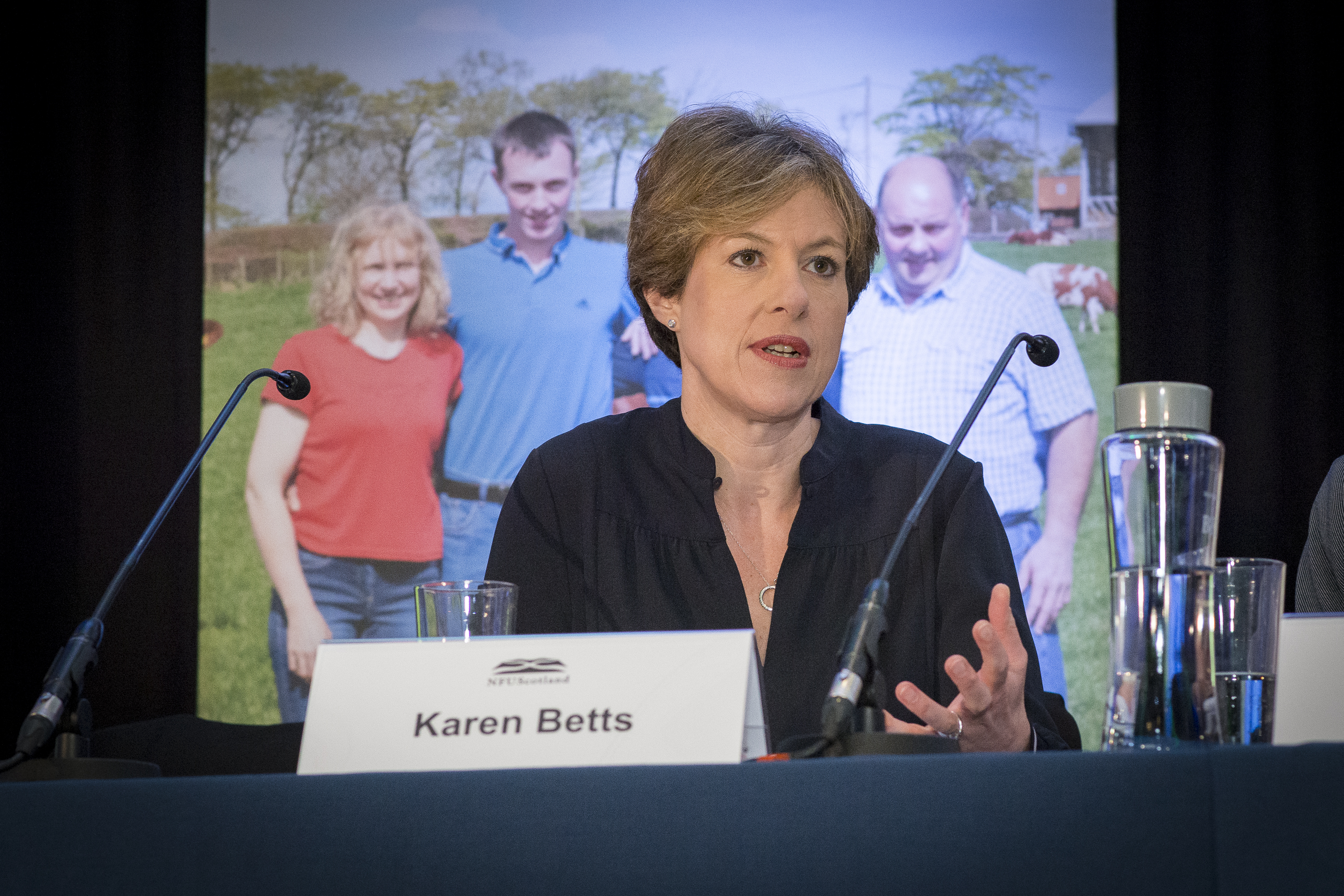 Karen Betts, who joined the discussion panel at the NFUS annual conference